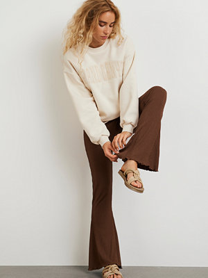 Gina Tricot bruna byxor Abbie trousers