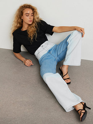 Gina Tricot Two-Tone wide jeans
