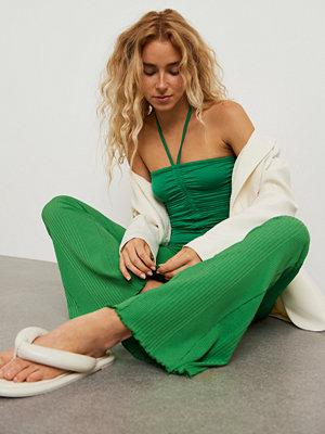 Gina Tricot gröna byxor Abbie trousers