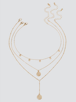 Gina Tricot smycke Gold Coin Y Neck Choker
