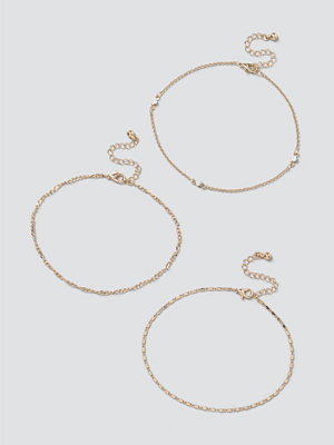 Gina Tricot smycke Pretty Chain Anklet Pack