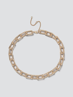 Gina Tricot smycke Gold Rectangle Link Chain Necklace