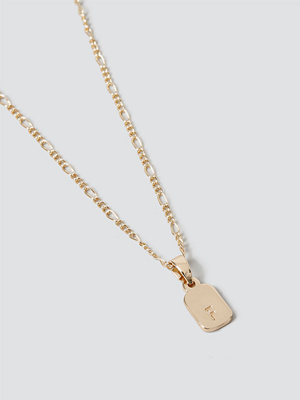 Gina Tricot smycke Gold F Initial Ditsy