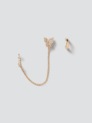 Gina Tricot smycke Gold Butterfly Ear Party Pack