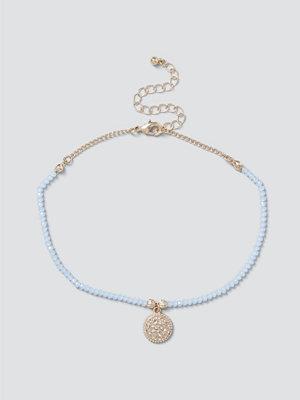 Gina Tricot smycke Pastel Blue Bead Coin Choker