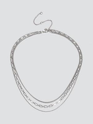 Gina Tricot smycke Silver Multi Chain Layered Necklace
