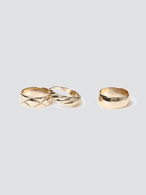 Gina Tricot smycke Gold Mega Twist Ring Pack