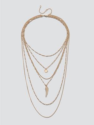 Gina Tricot smycke Gold Mega Wing Layered Necklace