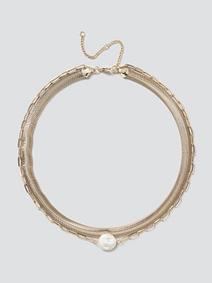 Gina Tricot halsband Pearl & Chain Layered Necklace