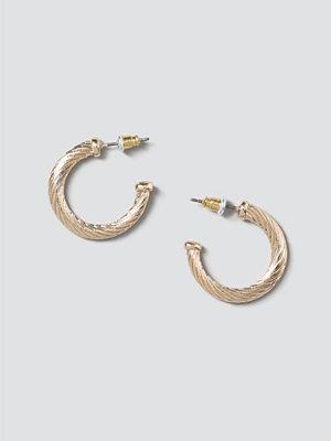 Gina Tricot örhängen Gold Textured Detail Hoops