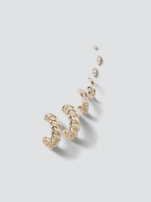 Gina Tricot örhängen Gold Chunky Twist Ear Cuff