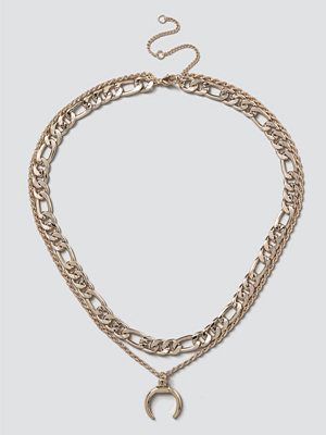 Gina Tricot halsband Gold Horn Layered Necklace
