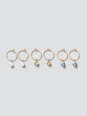 Gina Tricot smycke Blue Multi Bead Hoop Pack