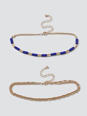 Gina Tricot halsband Lapis Bead & Chain Choker Pack