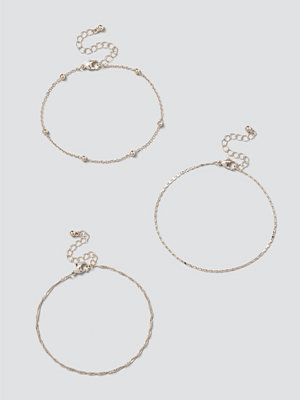 Gina Tricot smycke Chain Anklet Multipack