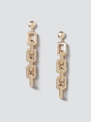 Gina Tricot örhängen Gold Square Link Drop Earrings
