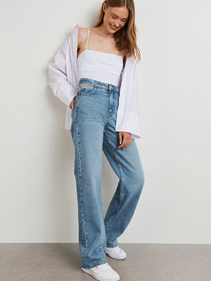 Gina Tricot Cut out straight jeans