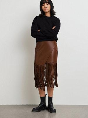 Gina Tricot Madde Fringe pu skirt