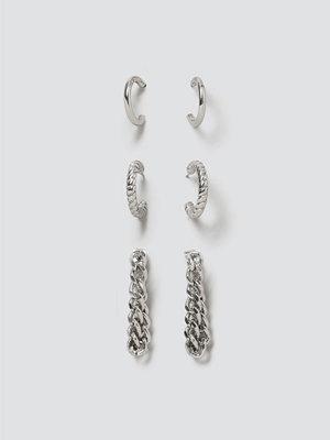 Gina Tricot örhängen Silver Urban Earring Pack