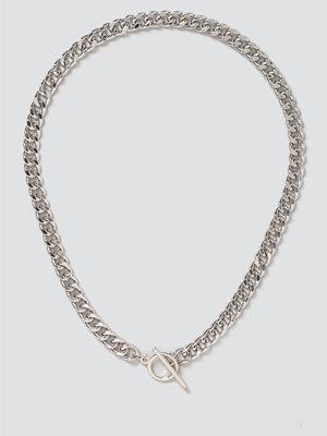 Gina Tricot halsband Silver T Bar Chain