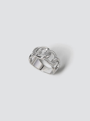 Gina Tricot Silver Twisted Chain Ring