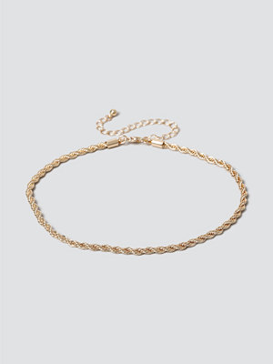Gina Tricot halsband Gold Twist Choker