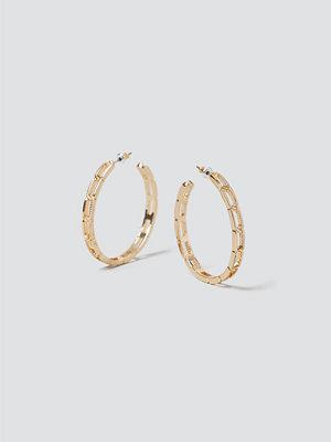 Gina Tricot örhängen Gold Chain Hoops