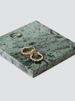 Gina Tricot örhängen Real Gold Plated Twisted Hoops