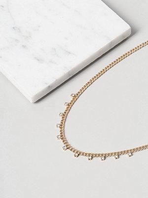 Gina Tricot halsband Finer Rhinestone Drop Chain