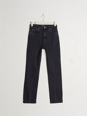 Gina Tricot Straight petite front slit jeans