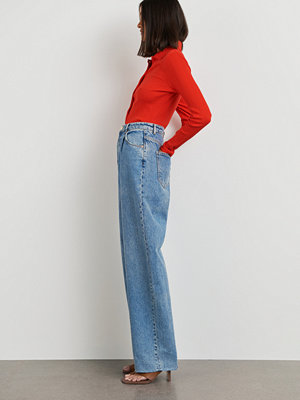 Gina Tricot Pleated loose jeans