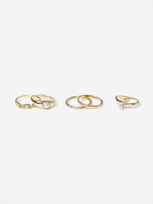 Gina Tricot Pearl Ring Multipack