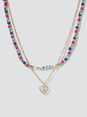 Gina Tricot halsband Peace & Love Layered Necklace