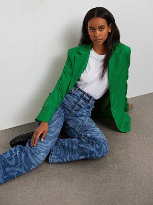 Gina Tricot Swirl laser print jeans