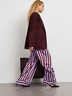 Gina Tricot randiga byxor Oversized pj trousers