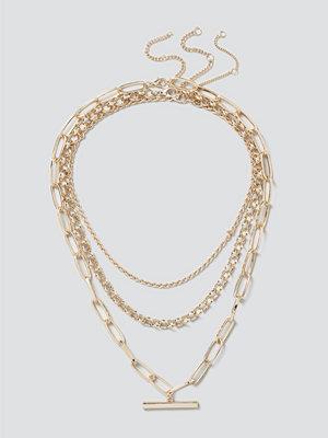 Gina Tricot halsband Chunky T-Bar Layered Necklace