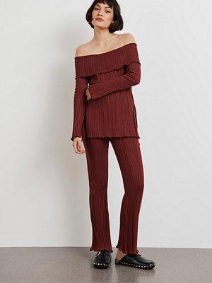Gina Tricot byxor Irma rib trousers