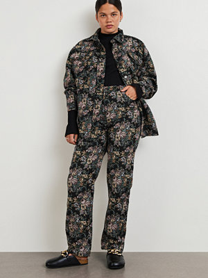 Gina Tricot byxor Sally jacquard trousers