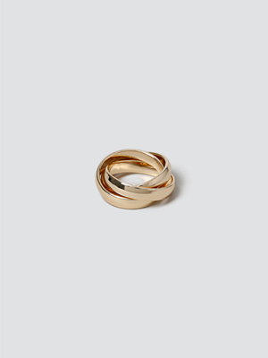 Gina Tricot Gold Crossover Ring