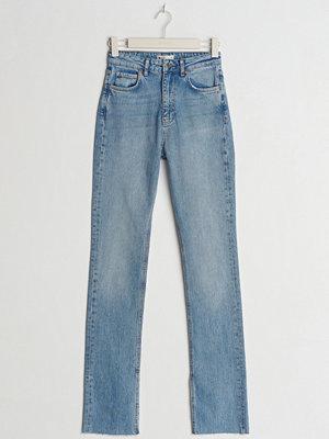 Gina Tricot High waist tall slit jeans