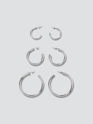 Gina Tricot örhängen Silver Clean Chunky Hoop Pack
