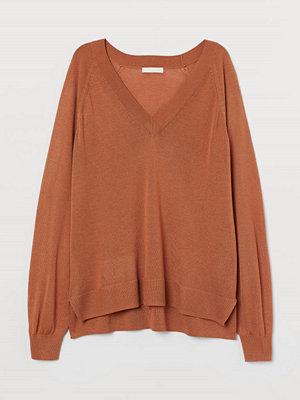 H&M V-ringad tröja orange