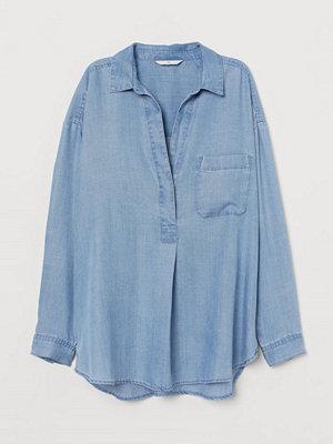 H&M Blus i lyocell blå