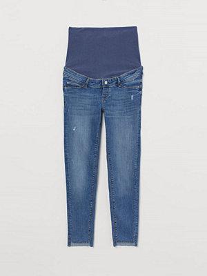 H&M MAMA Push Up Ankle Jeggings blå