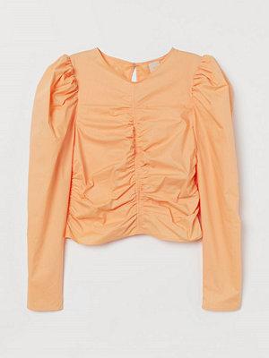 H&M Blus med puffärm orange