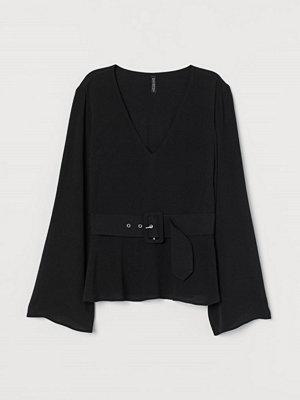 H&M Blus med skärp svart