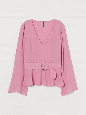H&M Blus med skärp rosa
