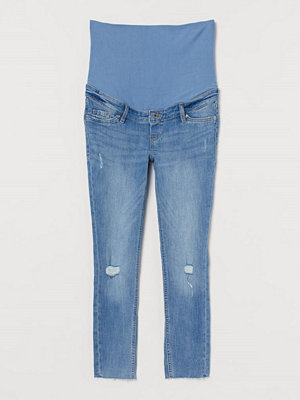 Jeans - H&M MAMA Skinny Ankle Jeans blå