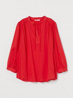H&M Blus i bomull röd