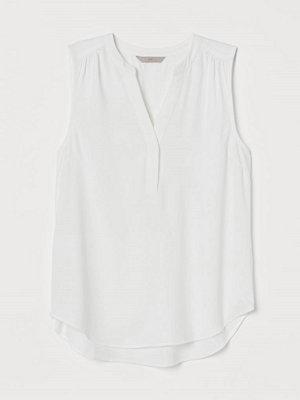 Blusar - H&M V-ringad blus vit
